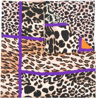 Pierre Louis Mascia Pierre-Louis Mascia contrast leopard print scarf