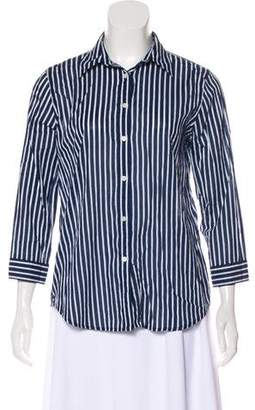 Lauren Ralph Lauren Striped Button-Up Top
