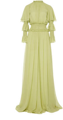 Giambattista Valli Tiered Silk Maxi Dress
