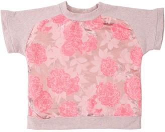 Lurex Jacquard & Cotton Sweatshirt