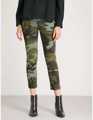 Nili Lotan Jenna camouflage-print skinny woven trousers