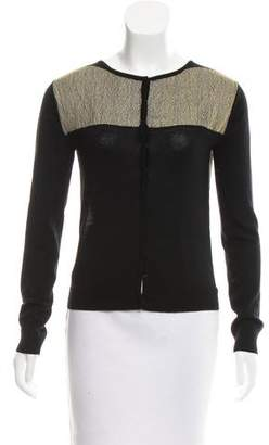 Timo Weiland Metallic-Accented Wool Cardigan