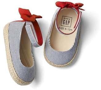 Bow stripe espadrilles $24.95 thestylecure.com