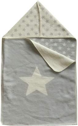 Camilla And Marc David Fussenegger: Baby blanket Juwel white and grey stars 45x76 cm