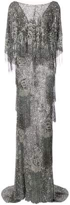 Marchesa sequin fringed gown