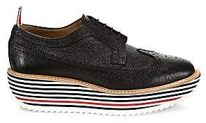 Thom Browne Men's Longwing Rocket Leather Brogues