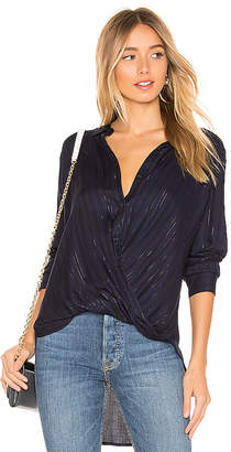 BCBGeneration Wrap Hem Blouse