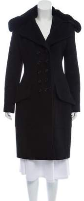 Burberry Fur-Trimmed Wool Coat