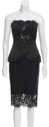 Cushnie et Ochs Lace Peplum Dress w/ Tags