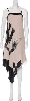 Halston Abstract Print Dress