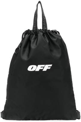 Off-White OFF print backpack
