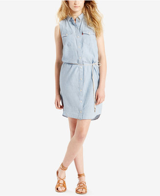 Levi's® Cotton Chambray Iconic Western Dress $64.50 thestylecure.com