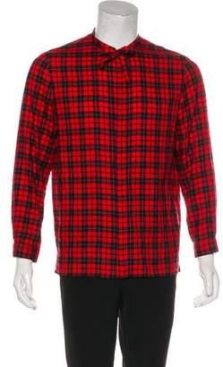 Gucci 2016 Plaid Cambridge Shirt
