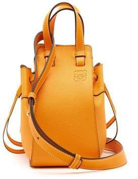 Loewe Hammock Mini Leather Tote Bag - Womens - Orange