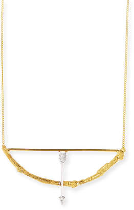 Bow & Arrow K Brunini 18k Twig Pendant Necklace