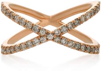 Eva Fehren Shorty 18K Rose Gold and Diamond Ring