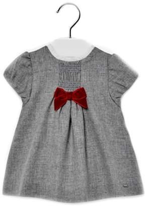 Mayoral Baby-Girl Grey-Flannel Dress