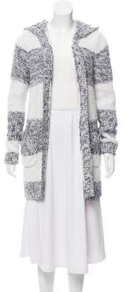 MICHAEL Michael Kors Striped Hooded Cardigan