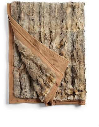 Yves Salomon Fox Fur Blanket