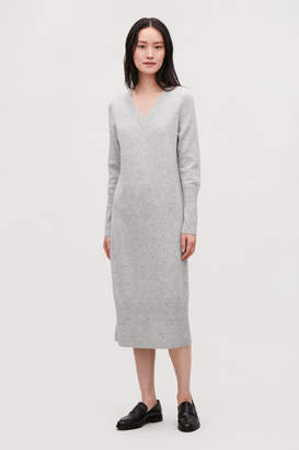 Cos LONG WOOL-KNIT JUMPER DRESS