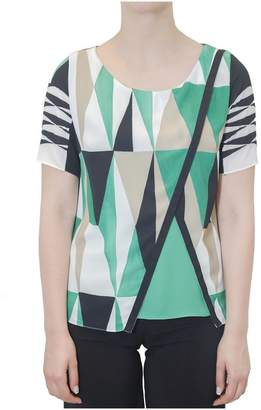 Hanita Patterned Asymmetric Blouse
