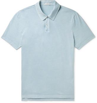 James Perse Supima Cotton-Jersey Polo Shirt - Men - Blue
