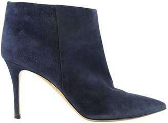 Gianvito Rossi Navy Suede Ankle boots