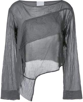 Lost & Found Rooms long-sleeve draped blouse