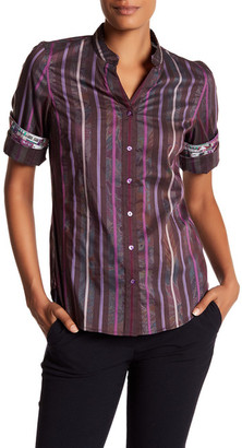 Robert Graham Arverne Stripe Woven Shirt $268 thestylecure.com