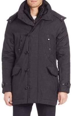 Tumi Twill Textured Zip-Front Jacket