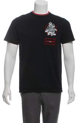 Christian Dior Roses Embroidered T-Shirt
