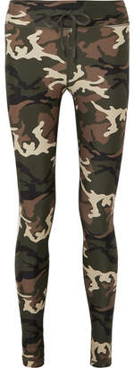 The Upside Camouflage-print Stretch Leggings - Army green