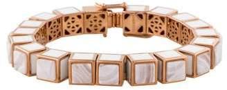 Eddie Borgo Agate Cube Link Bracelet