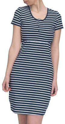 MODERN ETERNITY Striped Nursing Henley Dress