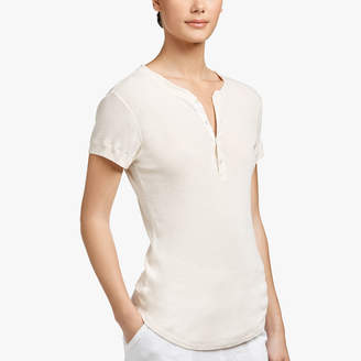 James Perse COTTON RIB HENLEY