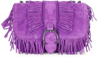 Longchamp Fringe Suede Crossbody Bag