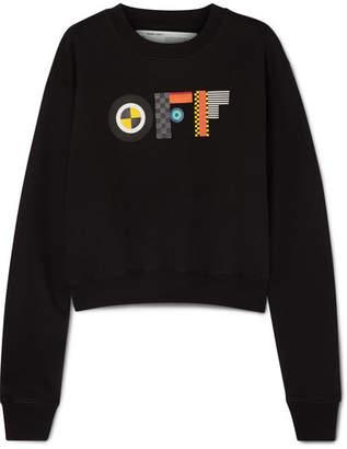 Off-White Printed Cotton-jersey Sweatshirt - Black