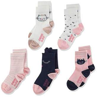 Schiesser Girl's 5pack Kids Socken Mädchen Socks 18-24 Months Pack of 5