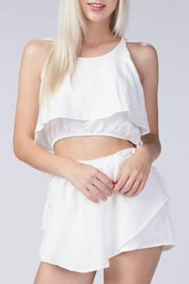 Honeybelle honey belle Layered Halter Crop Top