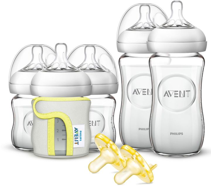 Philips Philips Avent Natural 5-Pack Glass Wide Neck Bottle Gift Set