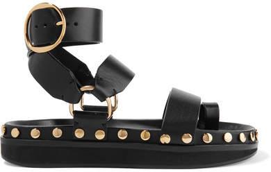 Isabel Marant - Nirvy Studded Leather Sandals - Black