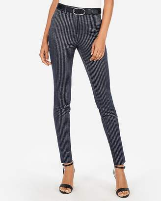 Express High Waisted Hazy Stripe Skinny Pant