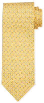 Salvatore Ferragamo Gancio Silk Tie, Yellow