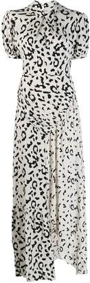 Self-Portrait leopard print dress