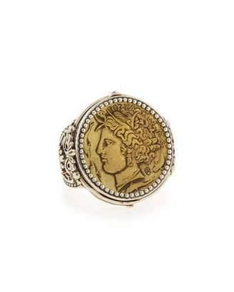 Konstantino Silver & Bronze Demeter Coin Ring