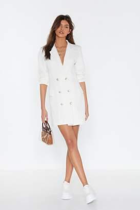 2743154543b Nasty Gal Own It Double Breasted Blazer Dress