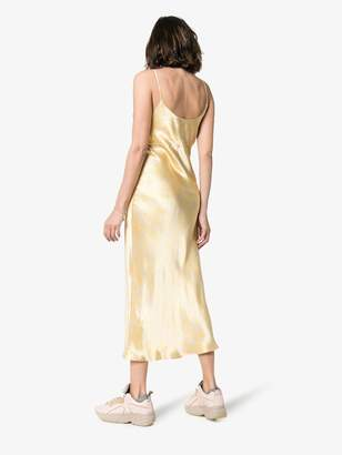 Ganni Cameron satin slip dress