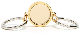 Jil Sander Mirror-disc double ring
