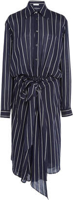 Tome Bow Front Shirtdress