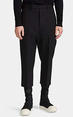 Rick Owens Men's Astaires Embroidered Wool Crop Trousers - Black